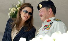 ♔♛Queen Rania of Jordan♔♛...Jordan's King Abdullah II with his wife Queen Rania.