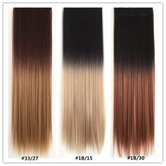 7Pcs Ombre Straight Hair Extension
