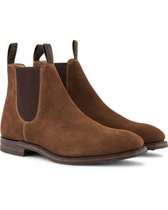 Loake 1880 Chatsworth Chelsea Boot Brown Suede i gruppen Skor hos Care of Carl (13248311r)