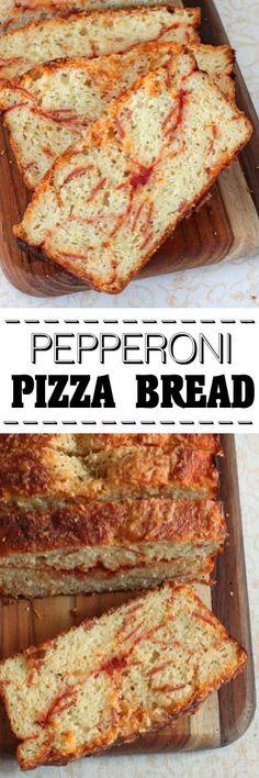 Pepperoni Pizza Bread #quickbread #pizza