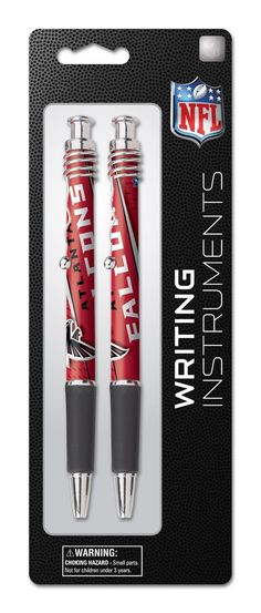 Atlanta Falcons 2 Pack Jazz Pen on Blistercard, Team Colors, Price:  $4.62 http://amzn.to/2c5cLIl
