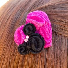 Minnie Mouse Felty Heart Barrette