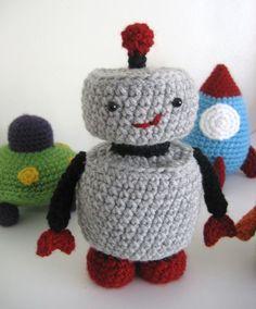 Amigurumi Robots Rockets and UFO's Crochet Pattern by AmyGaines