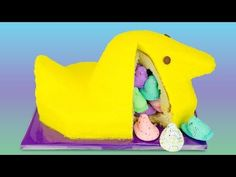Giant Peeps Cake with Surprise Inside