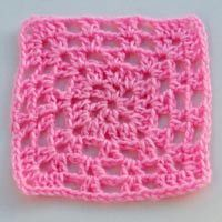 V-Stitch Granny Square - Free Crochet Pattern for a V-Stitch Granny Square