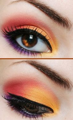 Fall Eye Makeup: How to apply orange eye shadow? - Trend To Wear