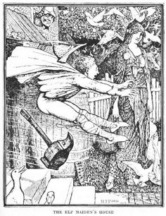 The Elf Maiden - The Brown Fairy Book by Andrew Lang, 1904 - illustrated by H.J. Ford