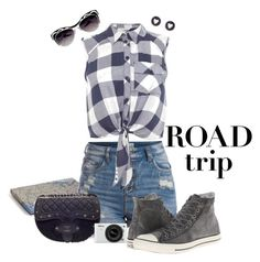 """""""Road Trip: Route 66"""" by seafreak83 ❤ liked on Polyvore featuring Rosanna, Pieces, Miss Selfridge, Converse, Brooks Brothers, Chanel and Nikon"""