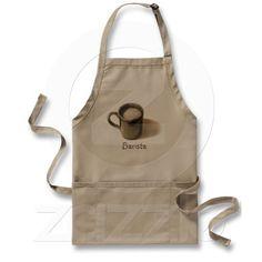 "Freehand Drawing: Mug of Coffee: ""Barista"": APRONS"