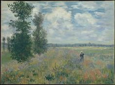 Claude Monet (French, 1840–1926). Poppy Fields near Argenteuil, 1875. The Metropolitan Museum of Art, New York. The Walter H. and Leonore Annenberg Collection, Gift of Walter H. and Leonore Annenberg, 2001, Bequest of Walter H. Annenberg, 2002 (2001.202.5)