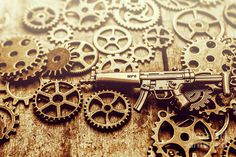 Special forces still-life on a Heckler & Koch MP5 9mm sub-machine gun developed in 1960s by the gears of german industry by Jorgo Photography - Wall Art Gallery