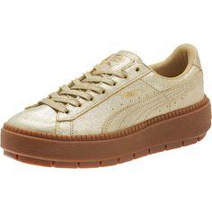2965e02a2283 Basket Platform Trace Gold Women s Sneakers