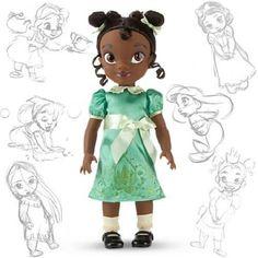 NEW NIB DISNEY STORE ANIMATORS COLLECTION TIANA TODDLER DOLL PRINCESS FROG NLA  #Disney #DollswithClothingAccessories