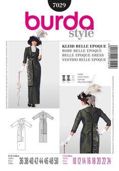 Patron de robe belle époque - Burda 7029 - Rascol