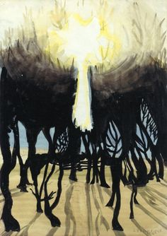Sunlight in Forest by Charles Burchfield