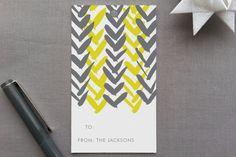 Chevron Gift Tags - design by linda and harriet