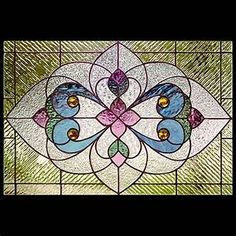Looking for a Victorian stained glass window pattern? We offer stained glass window patterns - Victorian transoms, panels and much more. Printable stained glass patterns include instructions, photo and more. Stained Glass Patterns Free, Faux Stained Glass, Stained Glass Designs, Stained Glass Projects, Stained Glass Windows, Victorian Stained Glass Panels, Leaded Glass, Art Nouveau, Modelos 3d
