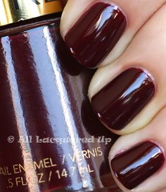 Revlon Vixen-a duplicate of Chanel's Vamp, famously worn by Uma Thurman in Pulp Fiction. Pretty close knock-off actually.