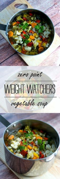 Vegetable Soup Recipe Idea: Zero Point Weight Watchers