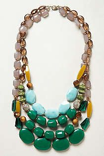 Anthro | Statement Necklace | stunning!! Should totally treat myself! ;)