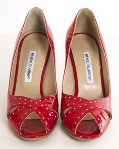 MANOLO BLAHNIK HEELS @SHOP-HERS. I have a purse just like this!
