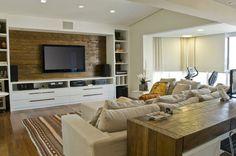 painel de madeira de demolição para tv cozinha americana - Google Search