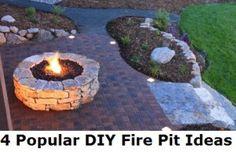 DIY Fire Pit Ideas- I love firepits:)