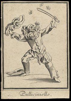Pulliciniello (Pulcinella) Jacques Callot, 1622 The Victoria & Albert Museum