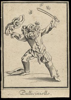 Pulliciniello (Pulcinella) Jacques Callot, 1622 The Victoria  Albert Museum