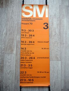 Stedelijk poster – 1970 by insect54, via Flickr