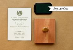 DIY invitation suite using rubber stamps