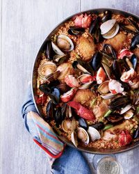 Chicken-and-Seafood Paella Recipe on Food & Wine