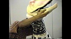 The exposed, spiral-cut neck core on the JP Velociraptor suit. #jurassicpark