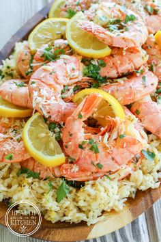 5 Minute Pressure Cooker Shrimp Scampi Paella - Gluten Free - Health Starts in the Kitchen