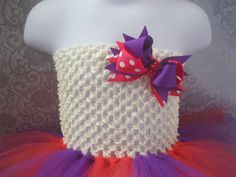 Easter Pink and Purple Tutu Dress 618 Months by krystalhylton, $19.00