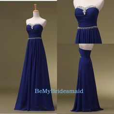 Processing+time:+2-3+weeks+ Shipping+Time:+3-5+business+days  Rush+order,+customs+size+and+color+is+available,+and+no+extra+cost.  Material:+Chiffon Shown+Color:+Royal+Blue Hemline:Floor+Length+ Embellishments:+Sequins Neckline:+Sweetheart  For+Custom+Size,+Please+leave+following+measu...