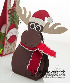 Hand Sanitizer Holder - Christmas Moose nu Chiaki Haverstick - Stampin' Up
