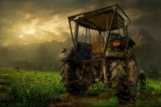 A tractor at rest...