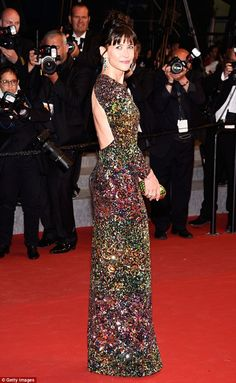 Jaw-dropping arrival: French actress and Cannes jury member Sophie Marceau looked incredib...