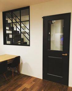 いいね!66件、コメント1件 ― my_home...rnさん(@my_home.rn)のInstagramアカウント: 「* ** お気に入りのドア♡ * #マイホーム #マイホーム記録 #リビング #リビングドア #ウッドワン #建具 #室内窓 #格子窓 #ダイニング #ダイニングテーブル #イームズ…」 Brooklyn Style, Brooklyn Apartment, Ace Hotel, Kitchen Doors, Door Design, Guest Room, Interior And Exterior, Interior Decorating, New Homes