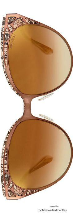 Jimmy Choo Estelle Lace-Pattern Cat-Eye Sunglasses