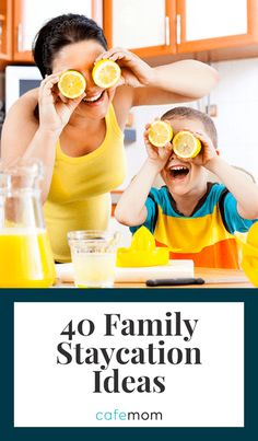 Check out these 40 awesome staycation ideas that the kids will really enjoy -- a. - Check out these 40 awesome staycation ideas that the kids will really enjoy — and parents will too - Indoor Activities For Kids, Family Activities, Travel Activities, Things To Do At Home, Fun Things, Family Kids, Staycation, Summer Fun, Summer Days