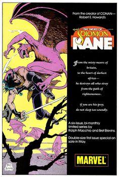 1986 - Solomon Kane house ad by Bret Blevins