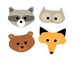We've got cute furry woodland creatures on the brain. Here are some cute woodland creature masks you can download and then decorate. Have fun. And remember these masks for Halloween, too!