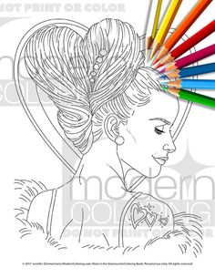 love do digital download coloring page adult by moderncoloring