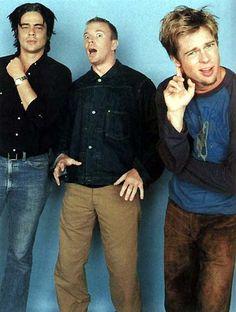 Benicio Del Toro, Guy Ritchie and Brad Pitt
