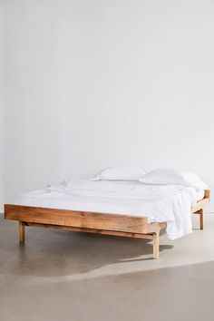 Shop Furniture Collections at Urban Outfitters. Minimalist Bed Frame, Minimalist Bedroom, Modern Master Bedroom, Minimalist Apartment, Minimalist Home Decor, Master Bedroom Design, Wood Bedroom, Bedroom Sets, Bedroom Decor