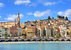 a Menton, sud de France - forget Nice, this place is so much more quaint and just a stone's throw from Italy!