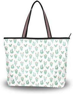 e1b1b47ad3ba Women Handle Botanical Cactus Green Satchel Handbags Tote Purse Shoulder Bag  Big Capacity Handbag luggage