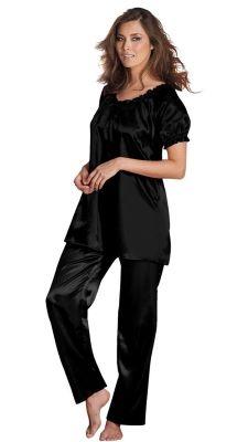 d4797afd51050 Sultry plus-size sleepwear Silk pajamas Plus Size Sleepwear